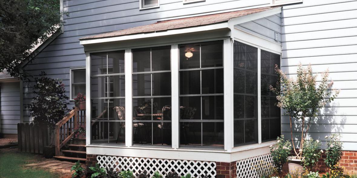 Eze Breeze Sunrooms Vinyl Windows Porch Conversion Of