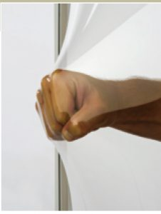 image shows man's fist trying to punch through an EZE Breeze Window
