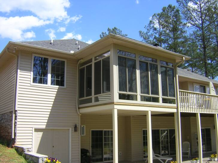 Porch conversions custom built sunrooms screened for Second floor sunroom
