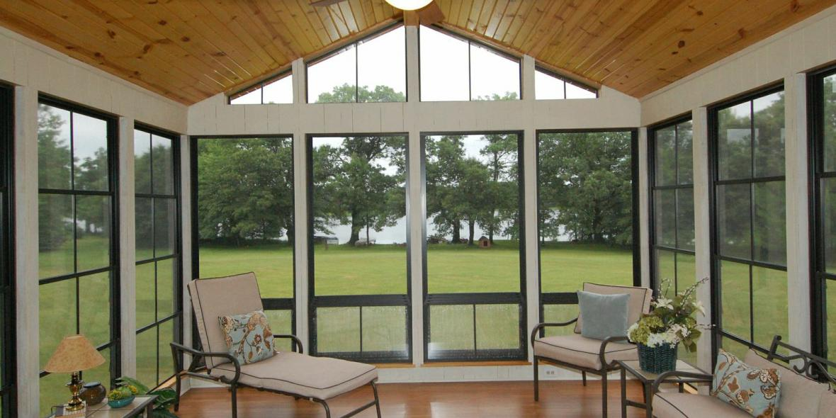 Eze Breeze Sunrooms Vinyl Windows Porch Conversion Of