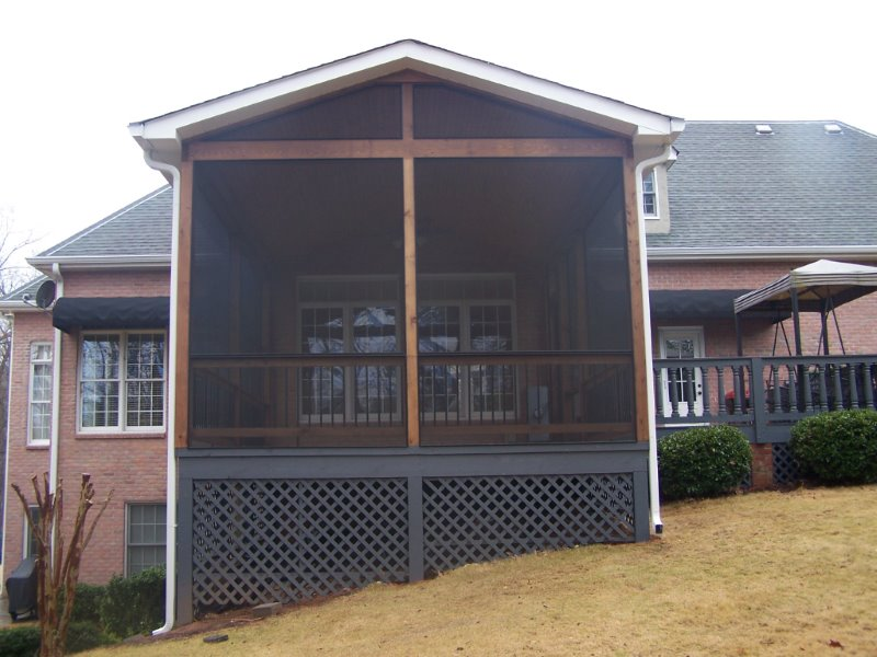 Screened porch contractor porch conversion of seneca sc for Seneca custom homes