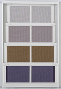 image shows available colors for EZE Breeze vinyl windows and aluminum frames offered by Porch Conversion of Seneca, SC